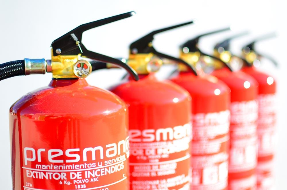Instalación de extintores