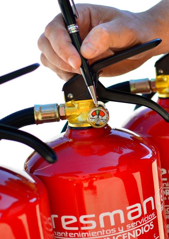 Retimbrado de extintores para incendios