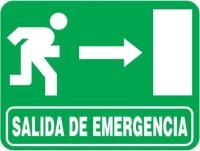 Firmar con la flecha de salida de emergencia