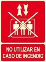 No utilizar en caso de señal de incendio.