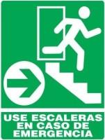 Señal de emergencia escalera